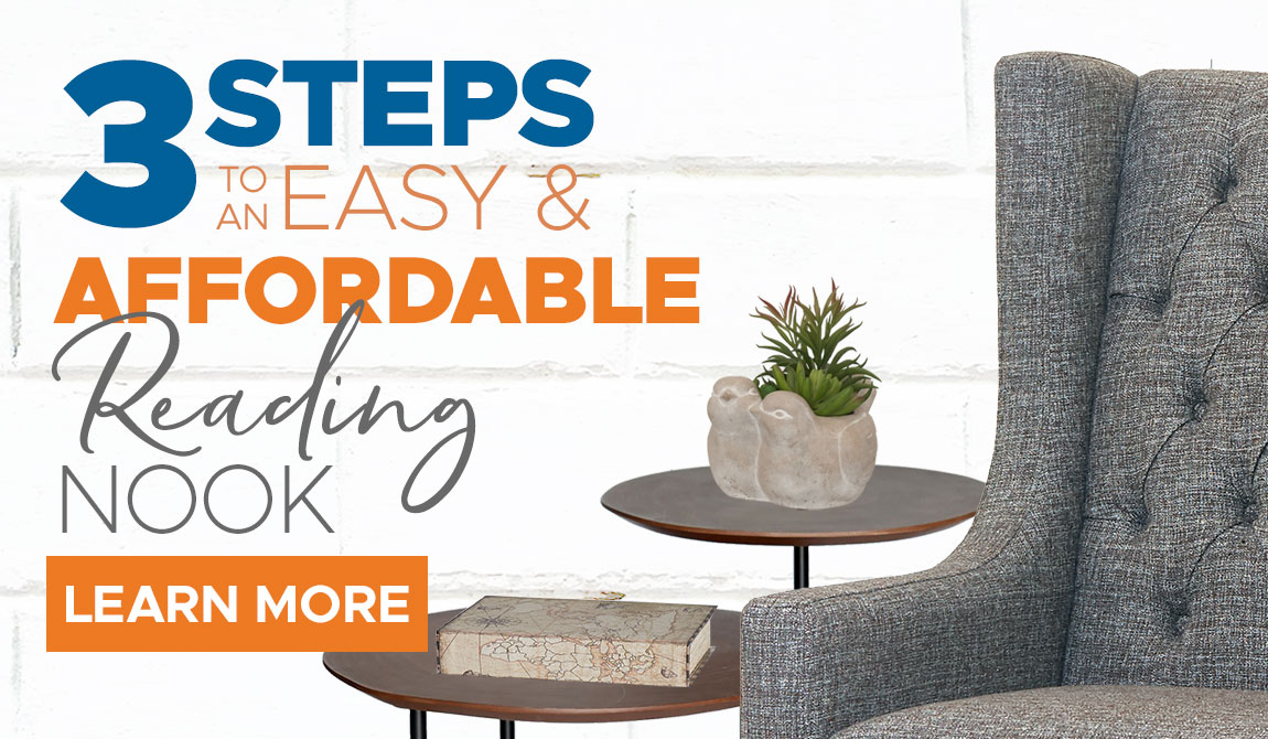 3 Steps to an Easy and Affordable Reading Nook