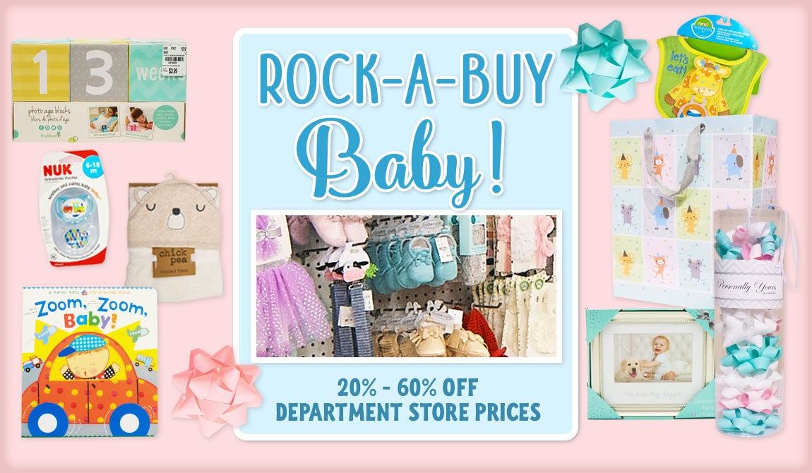 Rock-A-Buy Baby! 20-60% off Department Store Prices