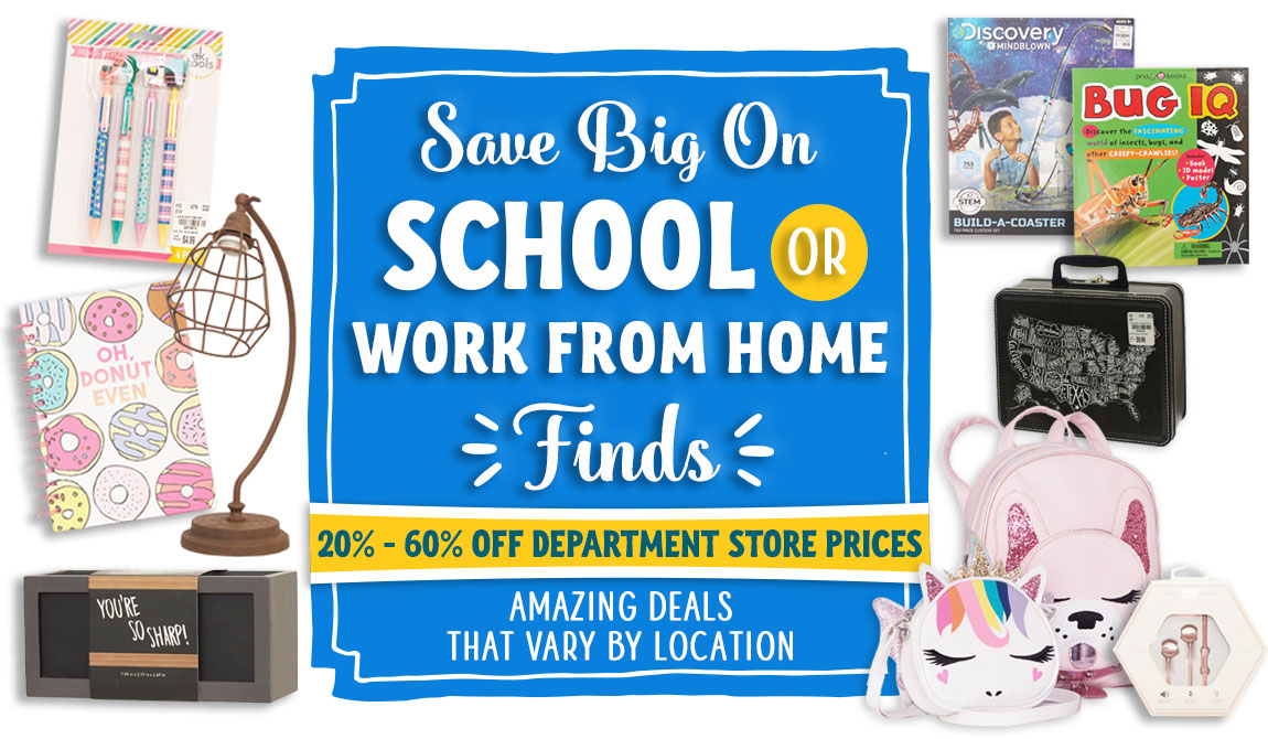 Save Big on School or Work From Home Finds