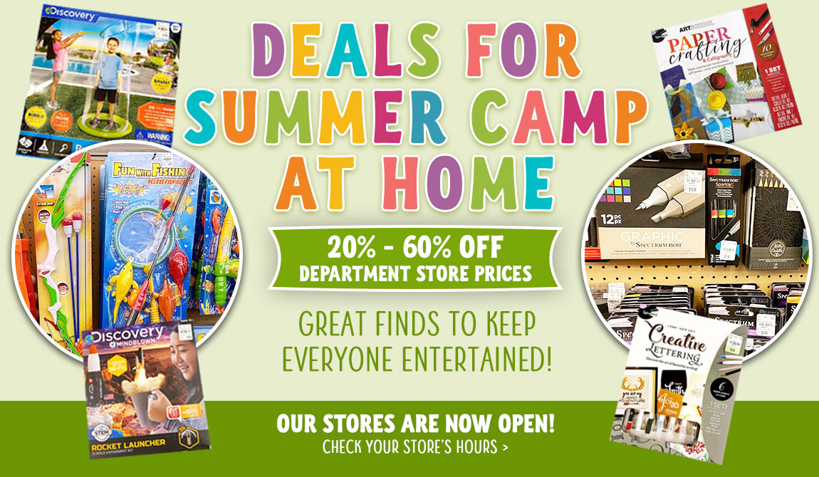 Deals for Summer Camp at Home! Great Finds to keep everyone entertained