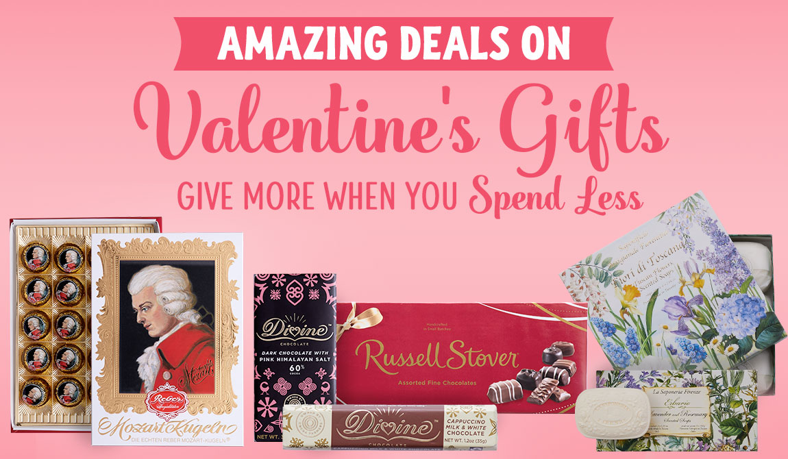 Amazing Deals Valentine's Gifts. Give More When You Spend Less