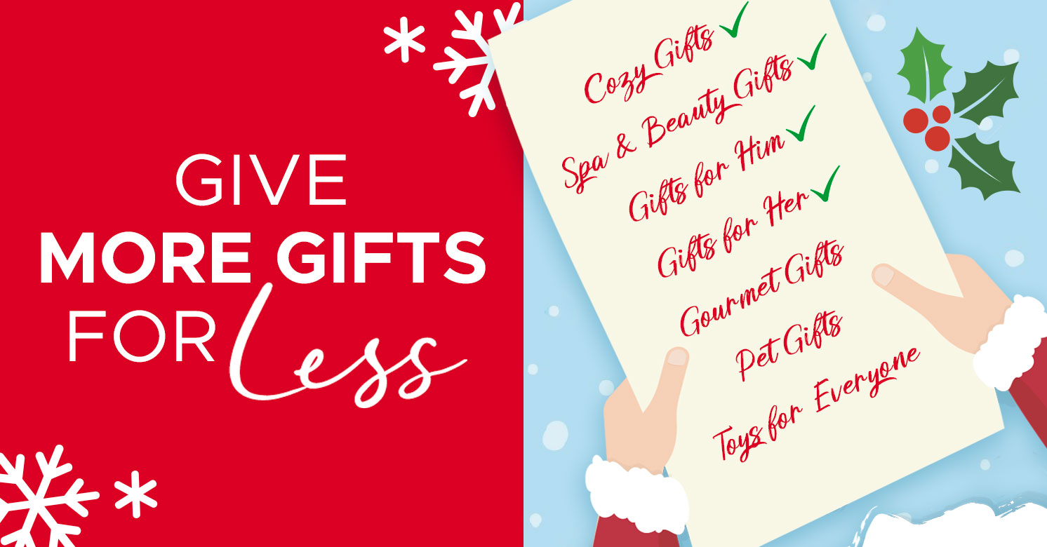 Give More Gifts For Less