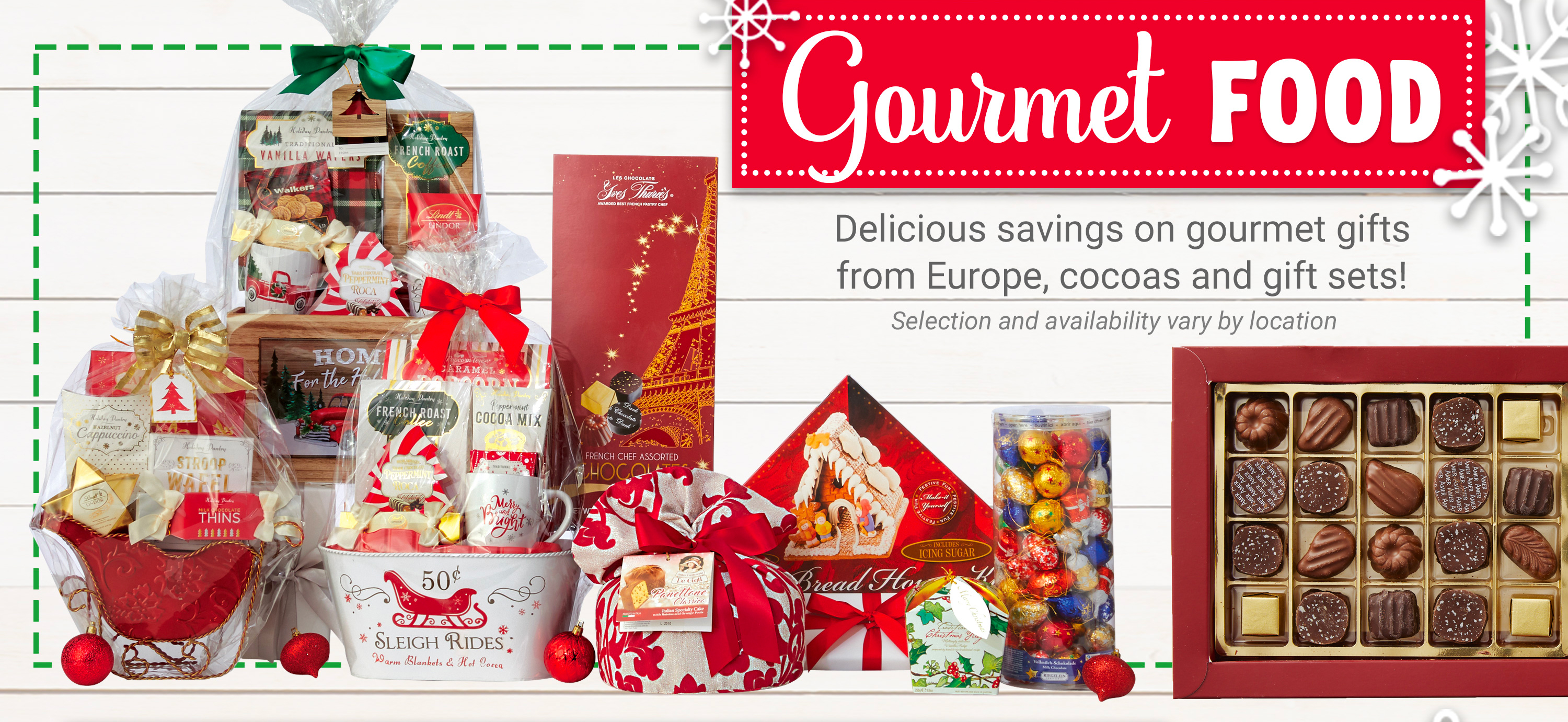 Gourmet Food - Delicious savings on gourmet fits form Europe, cocoas and gift sets!