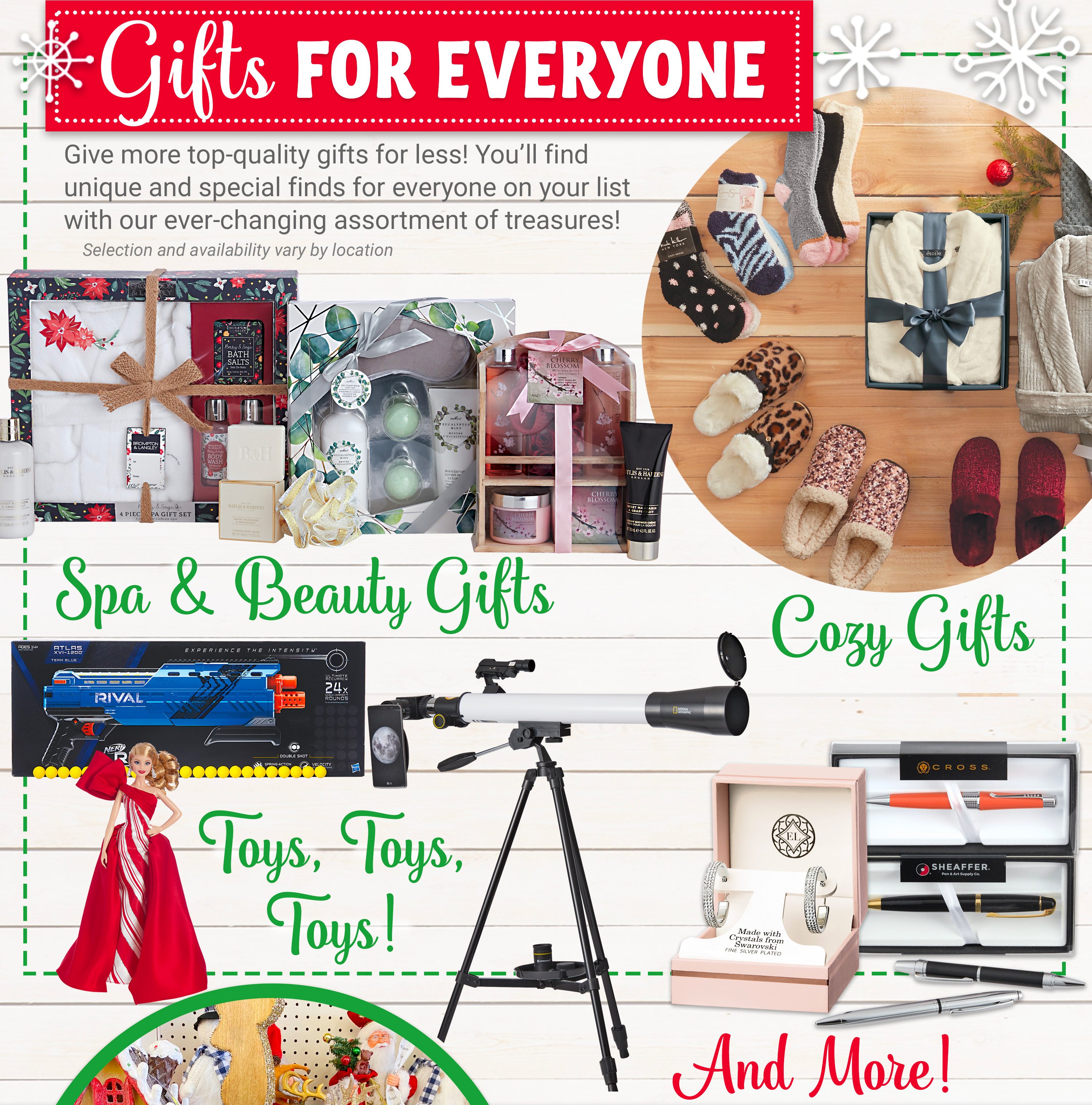 Gifts For Everyone - Spa & Beauty Gifts, Cozy Gifts, Toys, Toys, Toys and more!