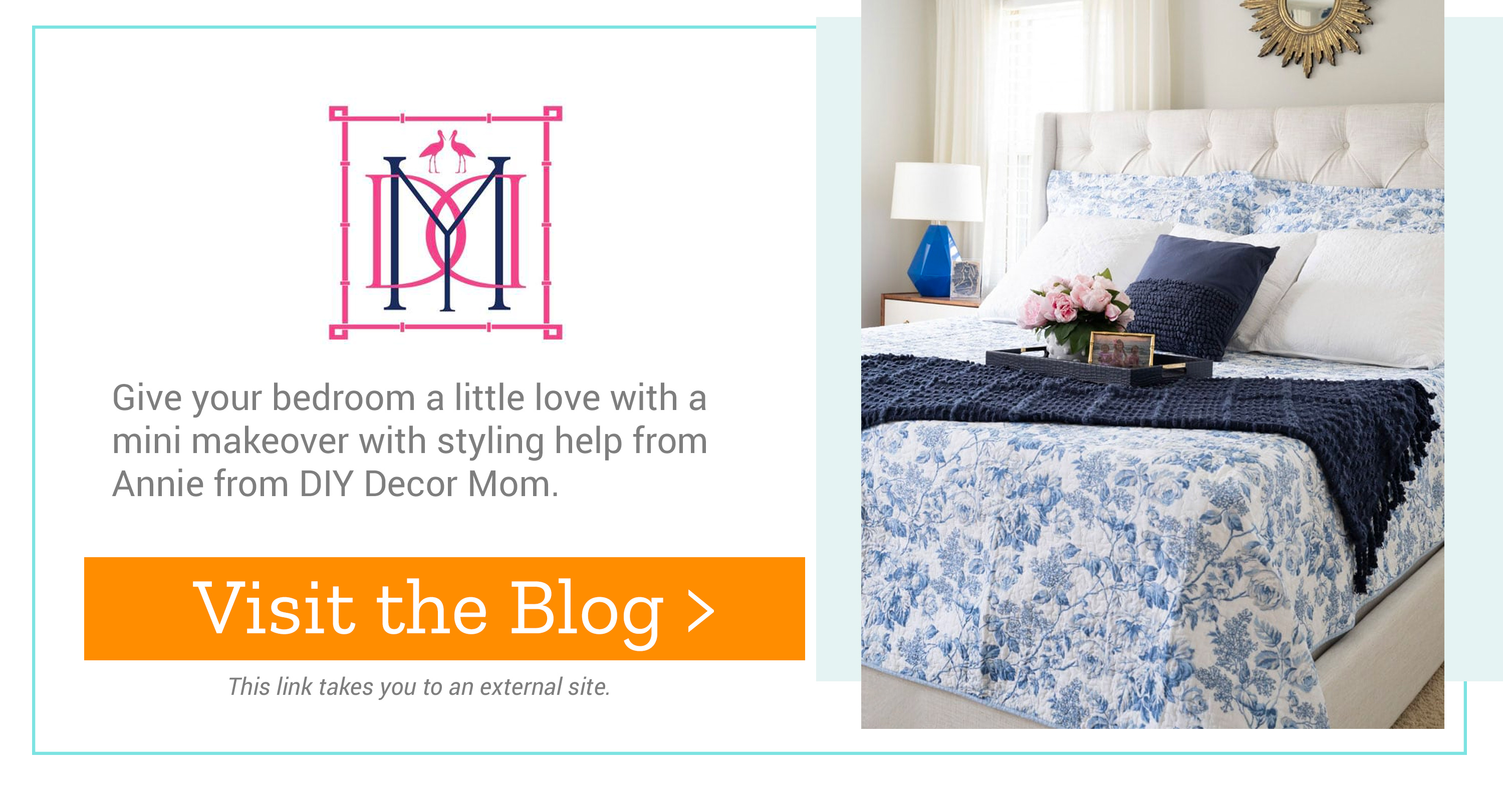 DIY Decor Mom - Give your bedroom a little love with a mini makeover with styling help from Annie from DIY Decor Mom. Visit the Blog >