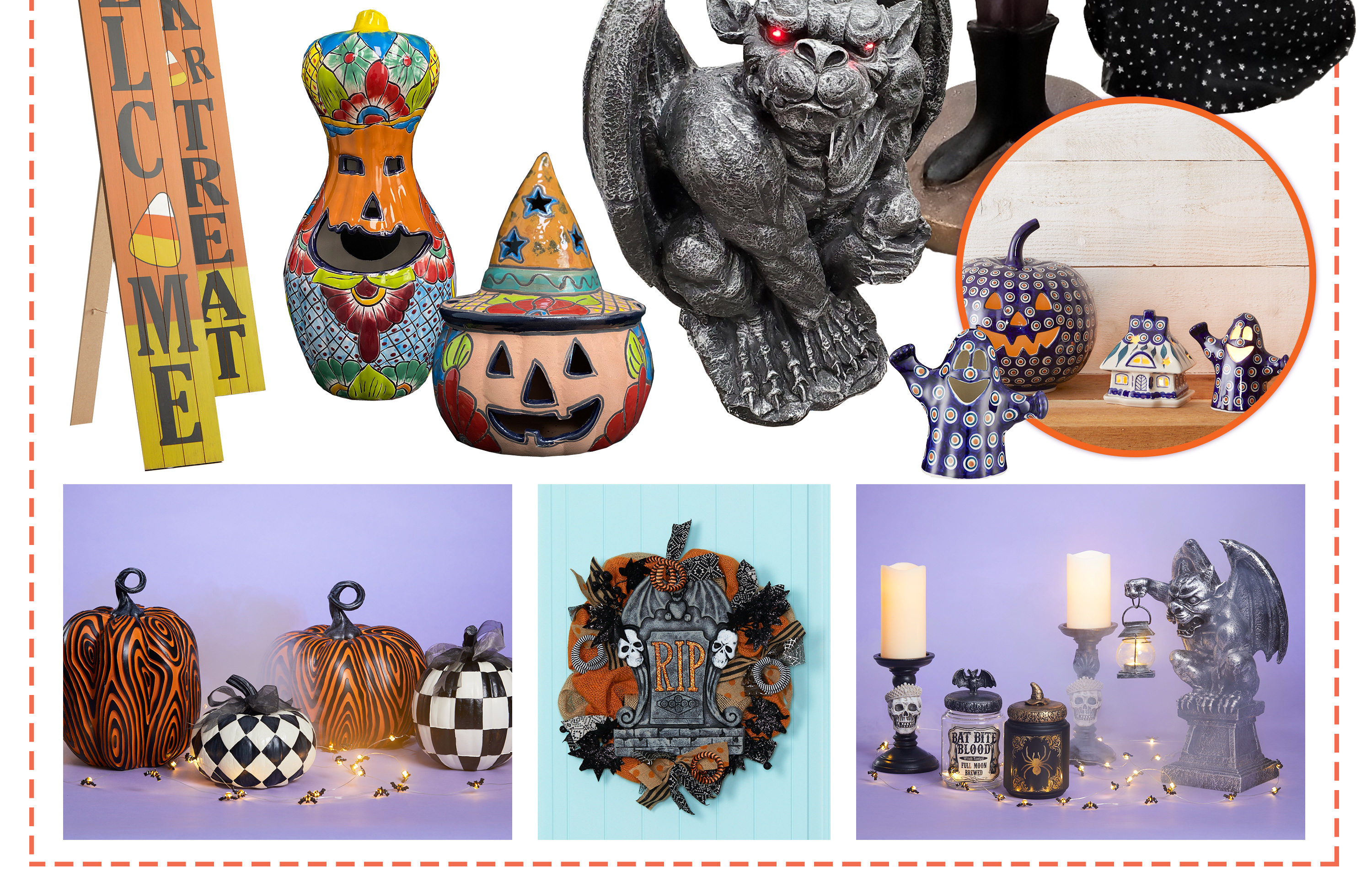 You'll find spooky savings on a huge selection of unique and adorable finds from figurines, sassy signs and even statement pieces.