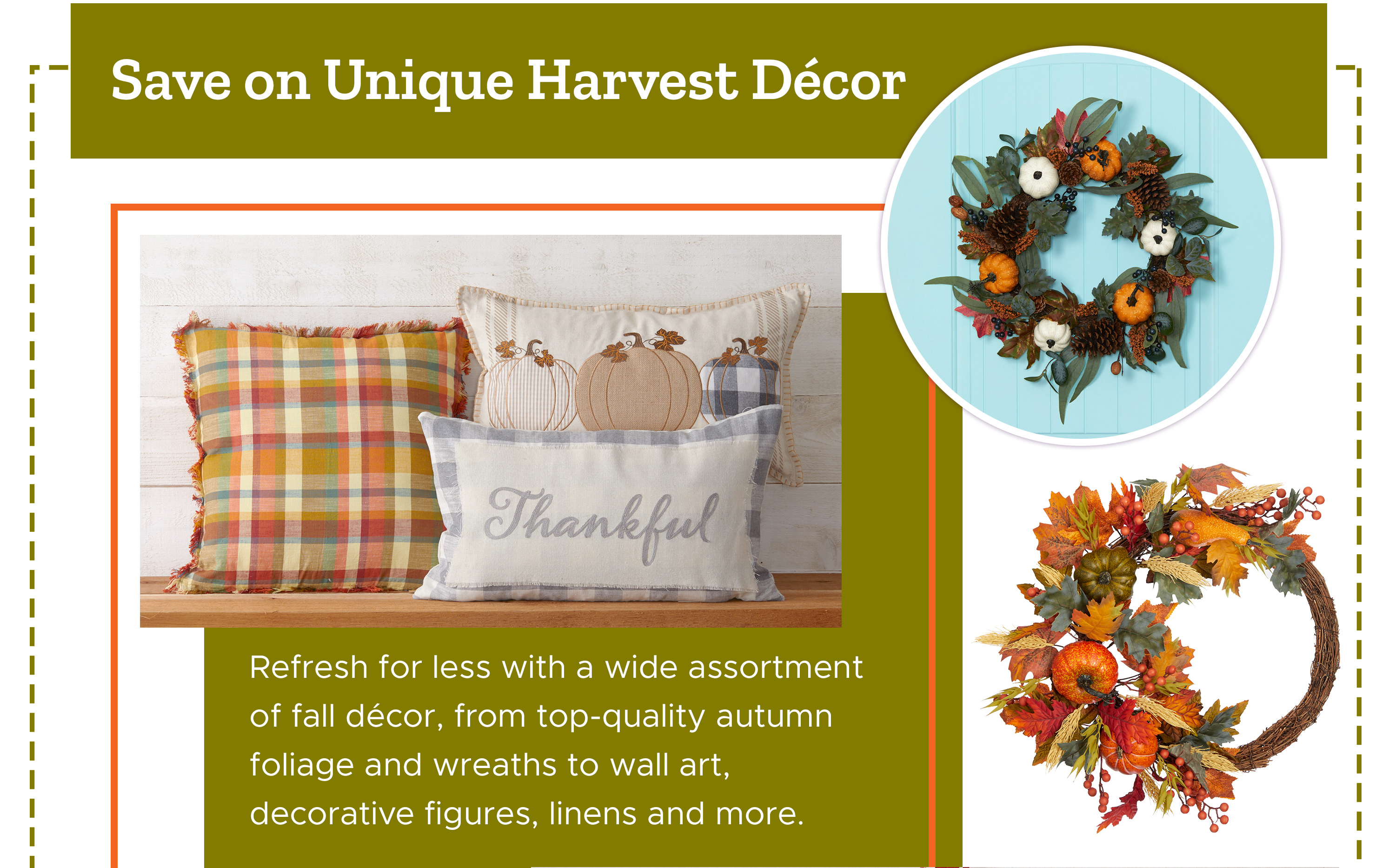 Save on Unique Harvest Décor