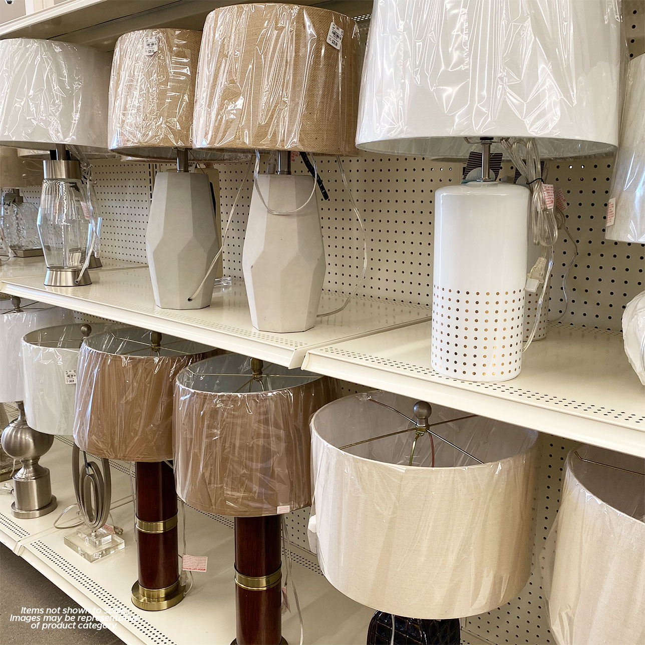 In stores now trendy lamps