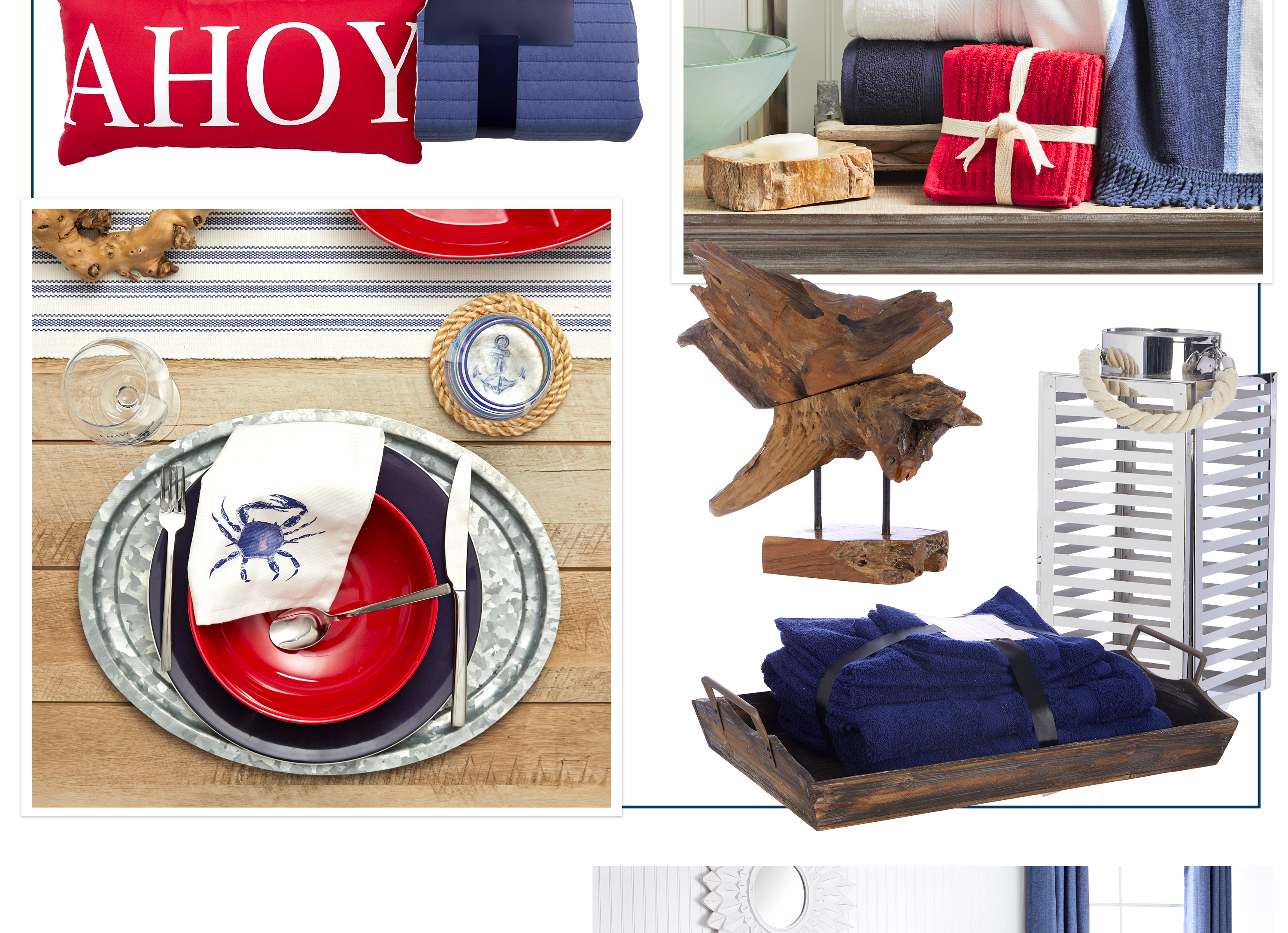 Nautical - Get ready for a new adventure with coastal elements accented with red, white and blue. Mai Tais optional.