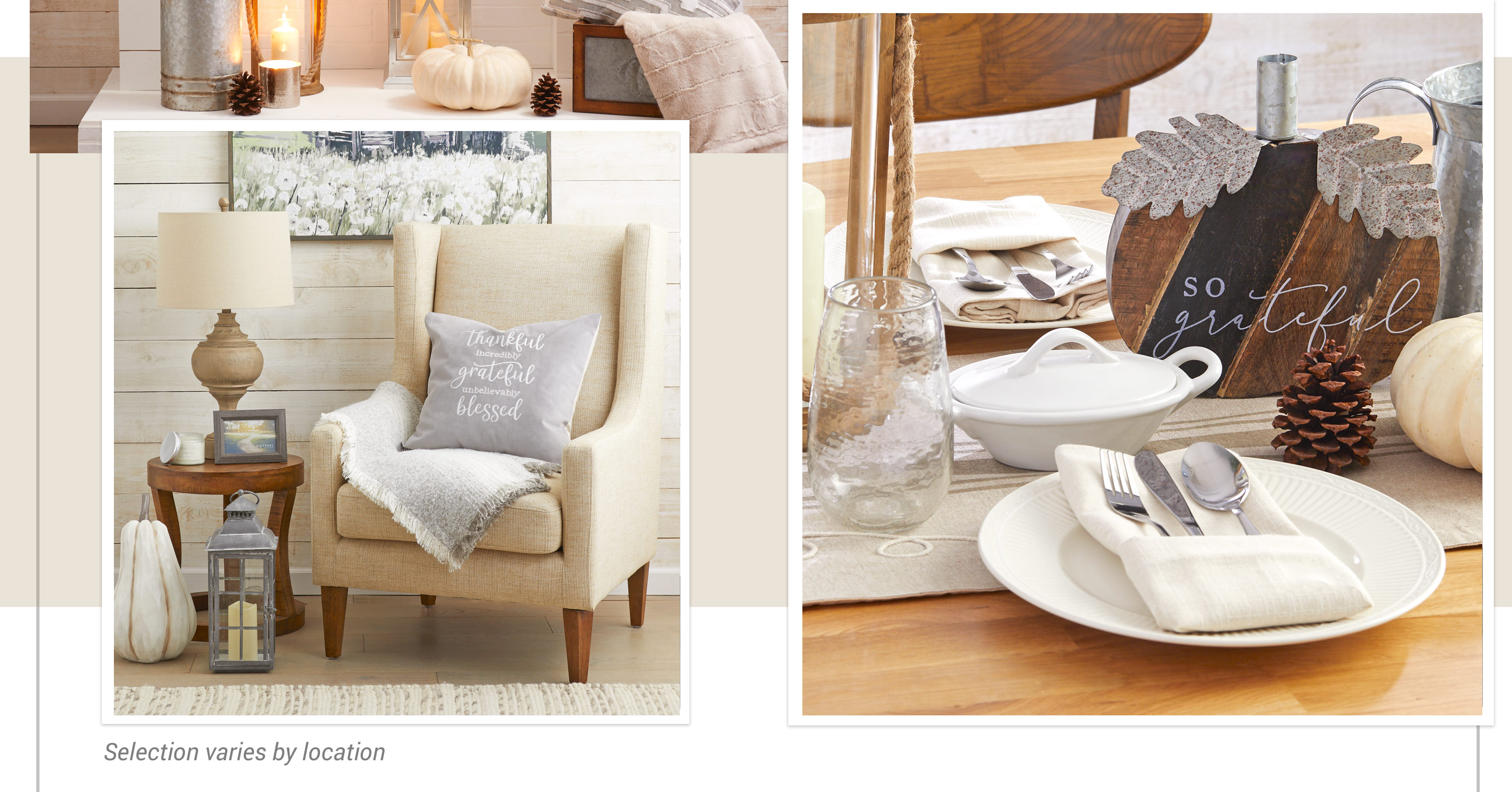 Essence of Autumn - Cinnamon and gold accents on a neutral palette offer a subtle hint of autumn warmth.