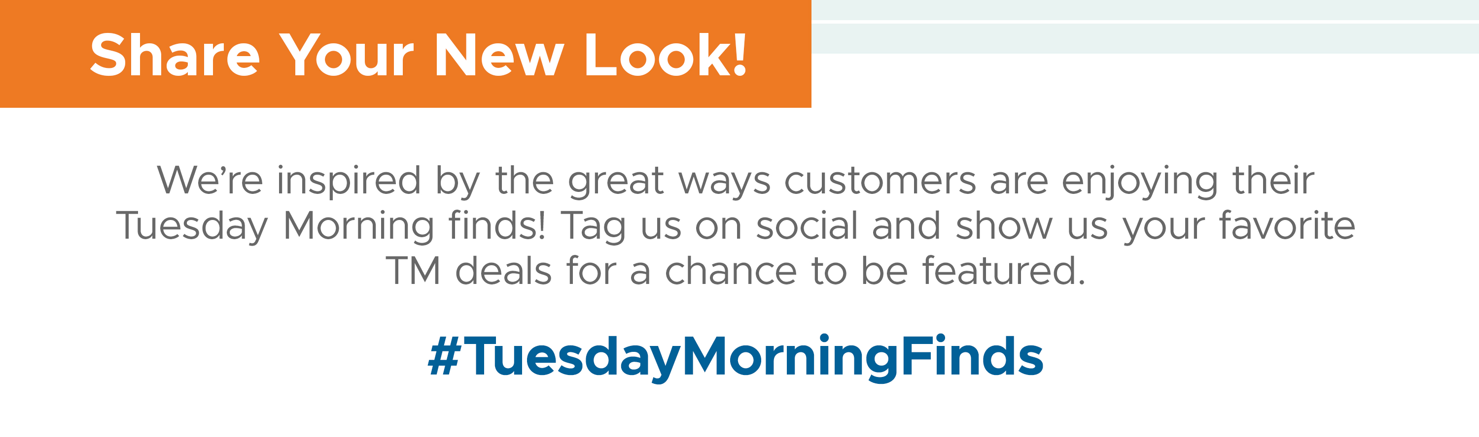 Share Your New Look! #TuesdayMorningFinds