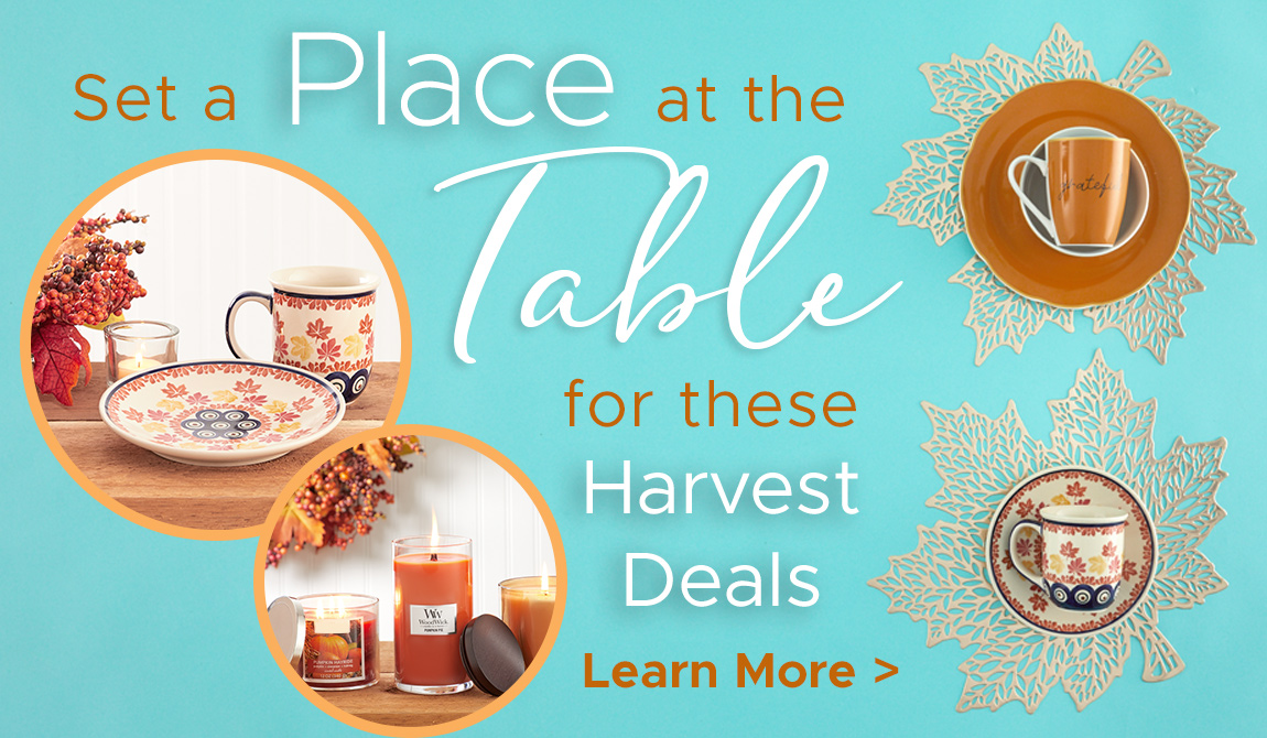 Set a Place at the Table for these Harvest Deals